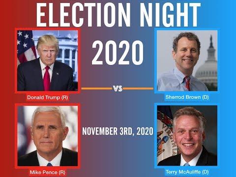 2020 Election Night | Sherrod Brown vs Donald Trump