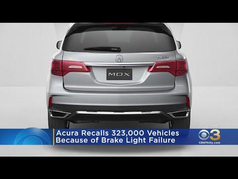 Acura Recalls 323,000 SUVs Over Brake Light Failure