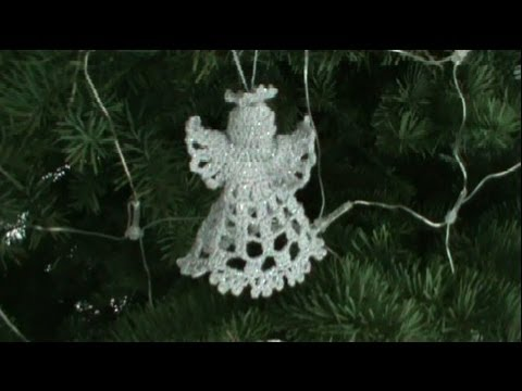 1 DE 2 COMO TEJER ANGEL NAVIDEÑO GANCHILLO CROCHET - YouTube