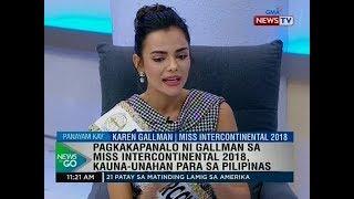 NTG: For the record: Karen Gallman, Miss Intercontinental 2018