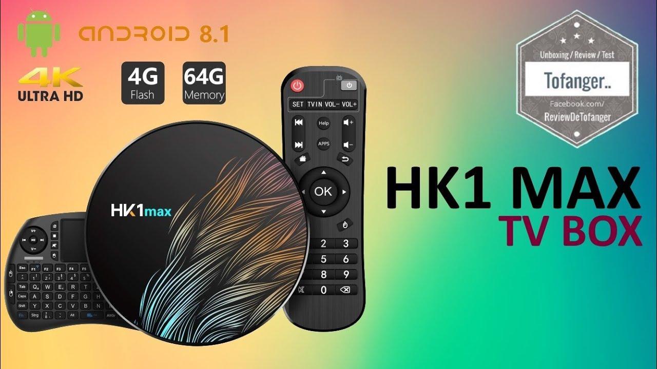 HK1 MAX BOX TV - TicTid Android TV Box 8 1 - OTT TV Box - Unboxing