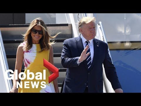 Trump, Melania arrive in Biarritz, France for G7 summit