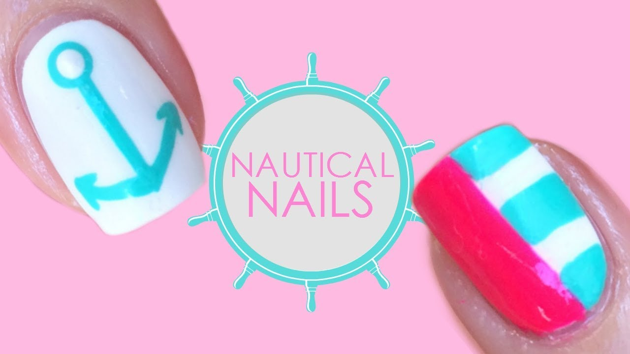 Nautical Nail Art Tutorial By Zunonails Youtube