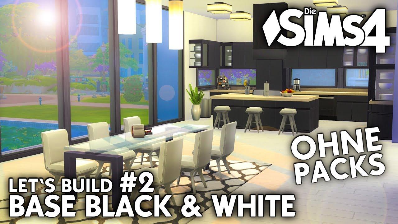 Die Sims 4 Haus bauen ohne Packs | Base Black & White #2: Küche (deutsch)