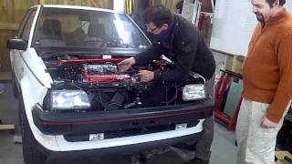 toyota starlet ep70 2e-fe first start on fuel