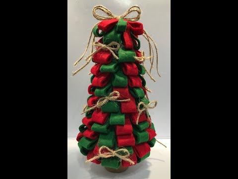 Pinterest Challenge - Felt and Burlap Tree