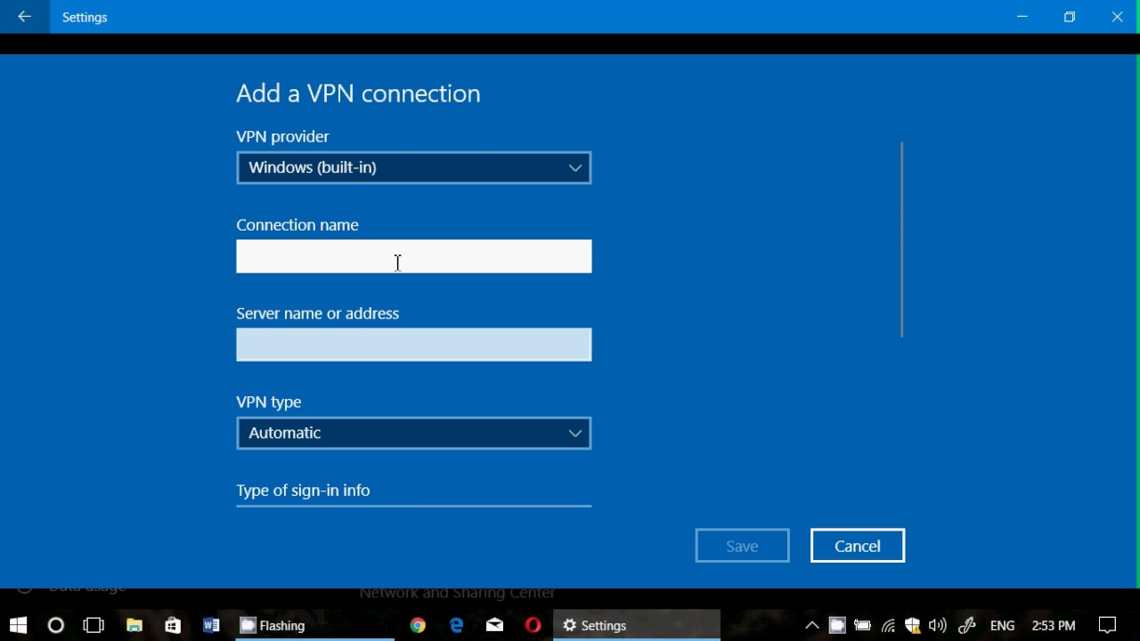 Windows 10 Built in VPN Settings what it is all about ...