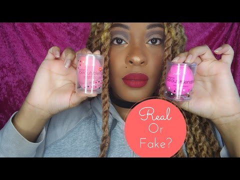 Real Beauty Blender VS Ebay Fake