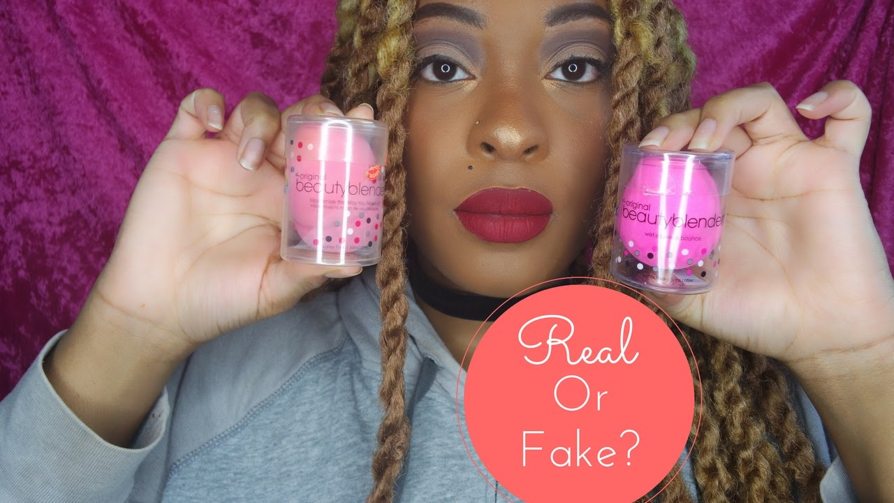 real beauty blender vs ebay fake youtube