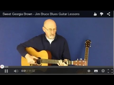 Sweet Georgia Brown – Jim Bruce Blues Guitar Lessons