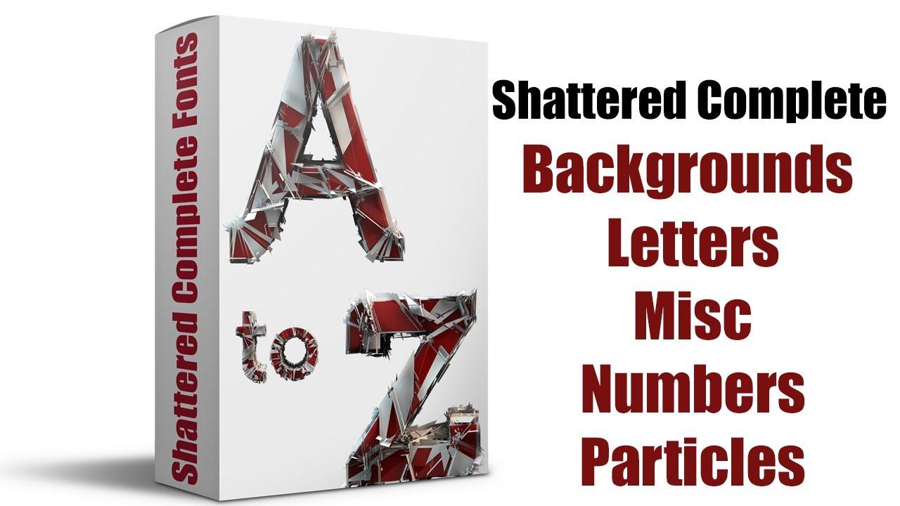 Download Shattered 3d Font Complete Pack Free Download |Urdu Hindi ...