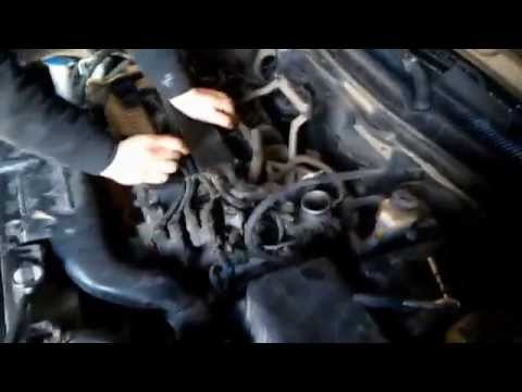 чистка дросселя кия спектра 2007 Cleaning The Throttle Kia Spectra 2007