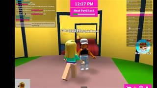 Having fun in Boys and Girls Hangout in Roblox!