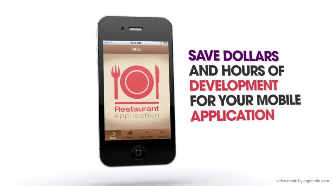 Restaurant App Template for iPhone - Source Code For Sale - YouTube