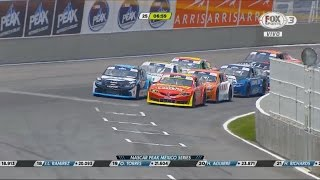 NASCAR PEAK México Series 2017. NPMxS Puebla. Restart & Battle for Win