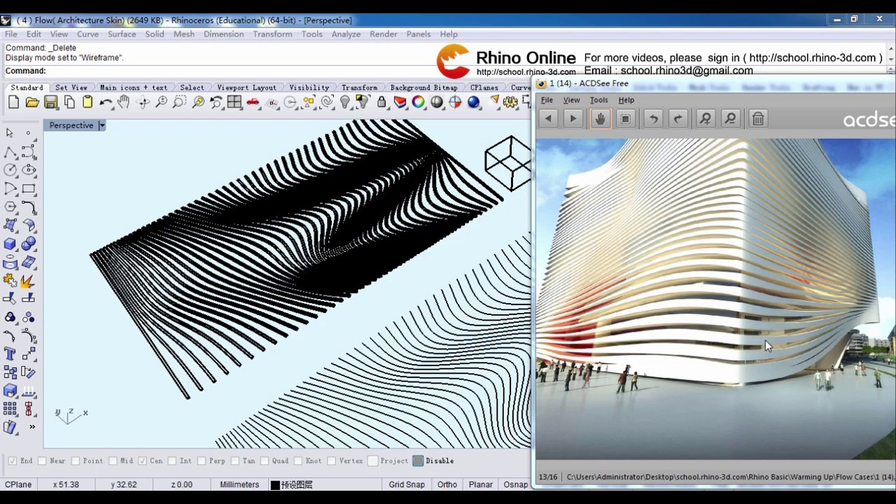 (4)Rhino 3D Beginners Tutorial & Tips: Part 4 (Rhino for Architecture)