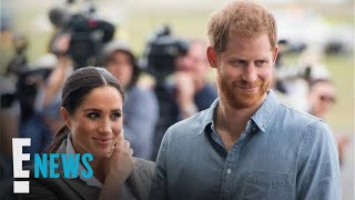 Meghan Markle Holds Prince Harry's Umbrella | E! News thumbnail