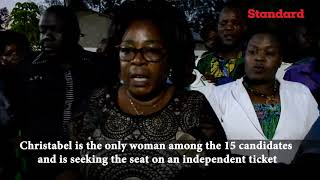 Drama as late MP wife, an aspirant in Matungu by-election cries after daughter supports a rival