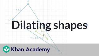 Dilating shapes: shrinking | Performing transformations | High school geometry | Khan Academy
