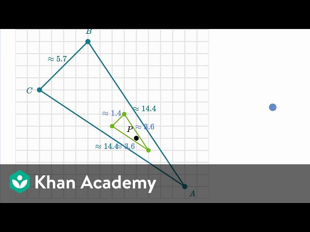 Dilating shapes: shrinking | Performing transformations | High school geometry | Khan Academy