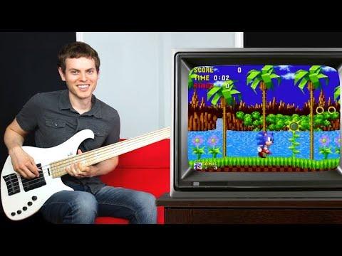 Sonic The Hedgehog Bass Guitar!!!