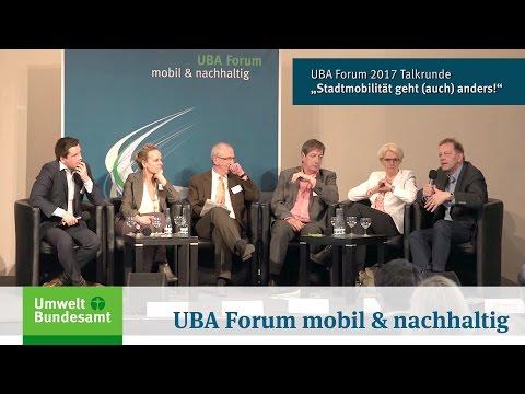 "UBA Forum mobil & nachhaltig: Talkrunde ""Stadtmobilität geht (auch) anders!"""