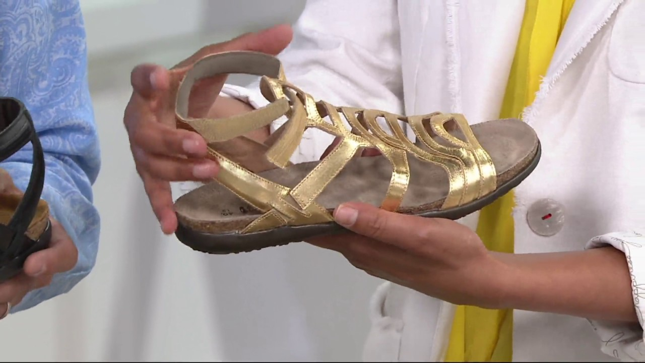 c242f7507d6d Naot Leather Gladiator Sandals - Sara on QVC - YouTube