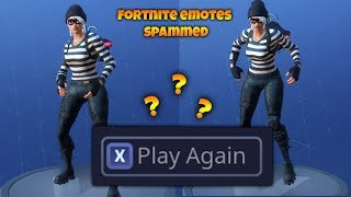 So I spammed X on all my Fortnite Emotes and it was funny asf...