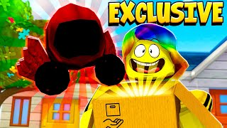 They sent me a LIMITED EDITION ROBLOX TOY.. You WON'T believe what the code does.. (Roblox)