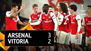 Arsenal vs Vitoria (3-2) | UEFA Europa League highlights
