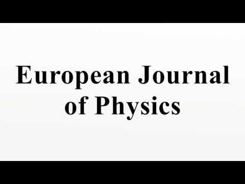 European Journal of Physics
