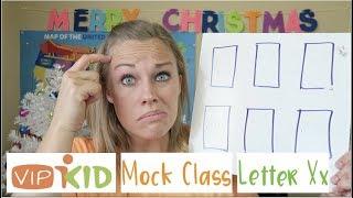 Mock 1: Letter Xx- How to Teach Each Slide from a VIPKID MCM