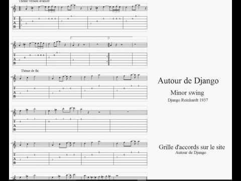 Apprendre le jazz manouche - Minor swing - Partition / Tablature guitare