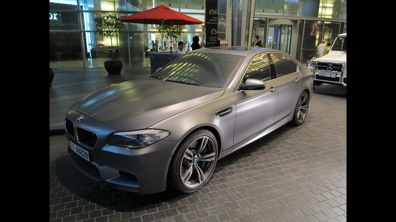 2013 Bmw M5 V8 Frosted Matte Grey Youtube