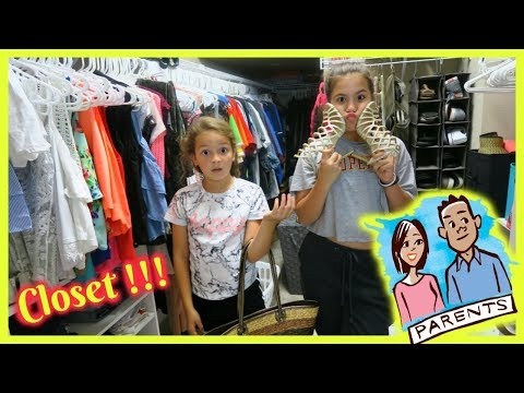 """OVERNIGHT IN OUR PARENTS CLOSET CHALLENGE """"SISTER FOREVER"""""""