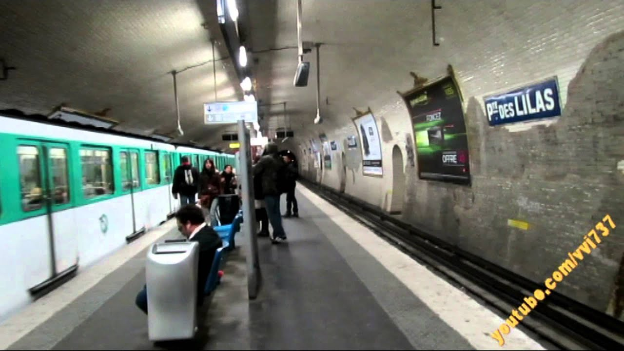 Porte des Lilas (Paris Métro) Line 11 - YouTube