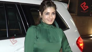 Hot Raveena Tandon Spotted At Masala Tea Restaurant