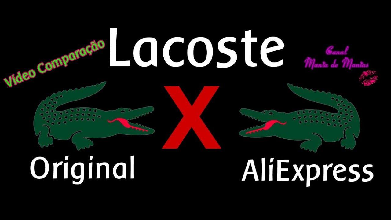 Vídeo Comparação - Lacoste - Original X AliExpress - YouTube 7c49e38e28