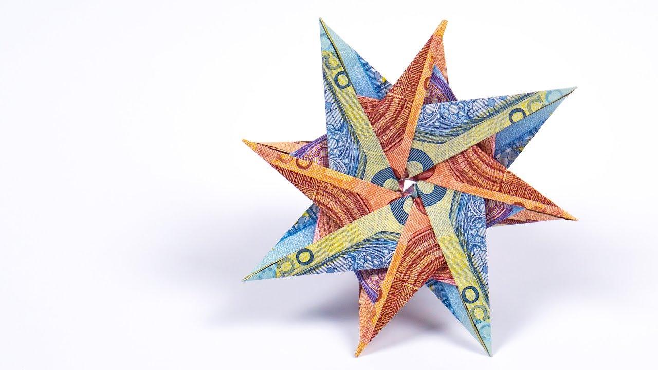 Geldscheine falten STERN Anleitung, Geldgeschenke basteln für Weihnachten YouTube ~ 01153827_Liegestuhl Basteln Mit Geldschein