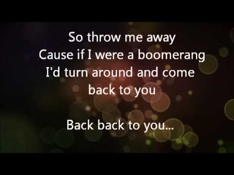 The Summer Set- Boomerang (lyrics)