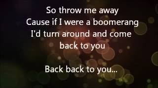 The Summer Set- Boomerang (lyrics)