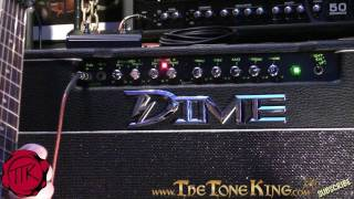 Dime D100C Amp Review using Dean DFH - Dimebag Style! - D100 Demo