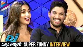Allu arjun and pooja hegde funny interview | dj duvvada jagannadham movie | telugu filmnagar