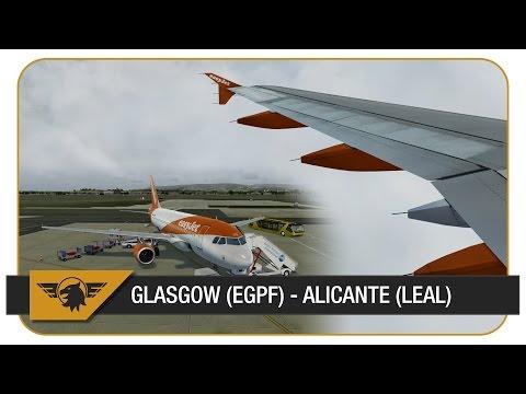 [Prepar3D] Aerosoft A319 | easyJet - EZY17BE | Glasgow (EGPF) - Alicante (LEAL) | VATSIM