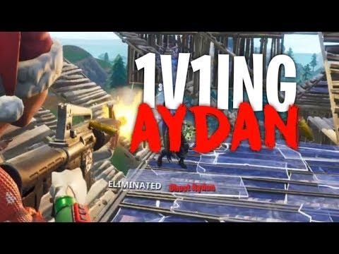 So i 1v1ed Aydan... (INTENSE) - Fortnite