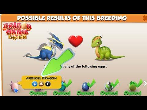 How to breed Axolotl Dragon ! - Dragon Mania Legends Gameplay Walkthrough Part 1537 HD