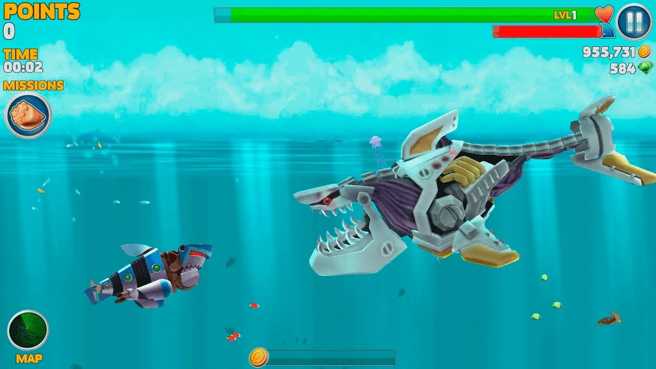 Hungry Shark Evolution Robo Shark Android Gameplay 40 Youtube