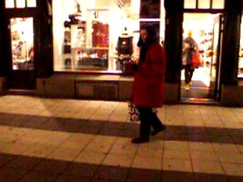 Crazy Yelling Lady in Stockholm #1
