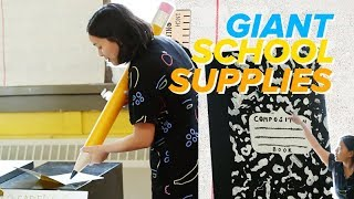 I Made Giant School Supplies