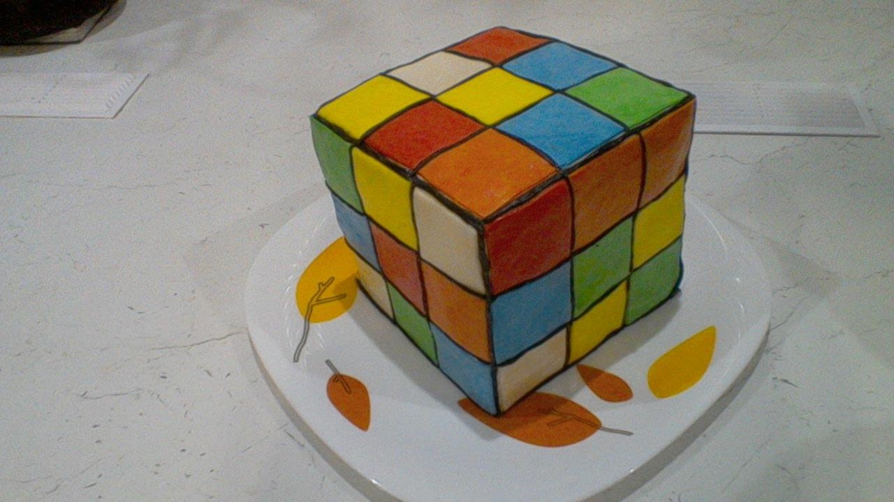 Торт Кубик Рубика, МК - У самовара - Украшение тортов 60